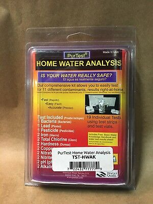 PurTest Complete Home Water Analysis Kit * FREE SHIPPING @