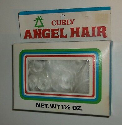 Vintage Unopened NOS Spun Glass Curly Angel Hair Christmas Crafts