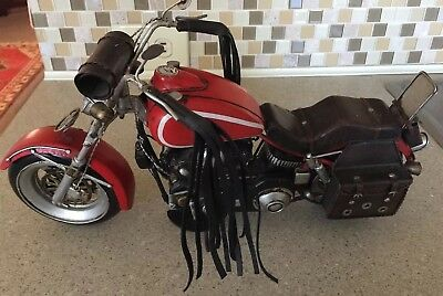 Large Harley Davidson or ?  Motorcycle Model Handcrafted All Metal Very Detailed