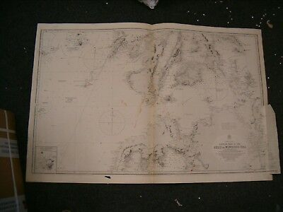 Vintage Admiralty Chart 2578 PHILIPPINE ISLANDS 1911 edition