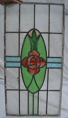 British leaded light stained glass window panel. B795c. WORLDWIDE DELIVERY!!!