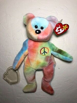 TY Beanie Baby PEACE the BEAR 1996 RARE with ERRORS new condition with tags