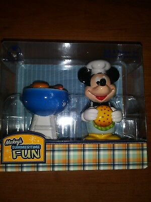 Disney Store Mickey Mouse Chef BBQ Salt & Pepper Shakers Ceramic
