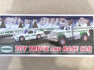 Hess 2011 Toy Truck & Race Car - Brand New-Pristine - Never Opened - Mint In Box