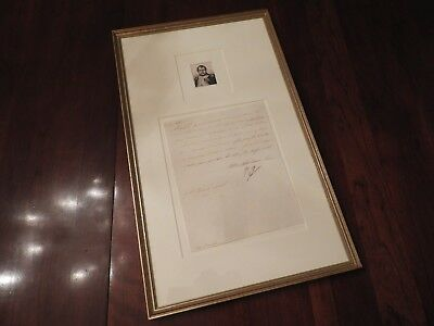 Napoleon Bonaparte - Letter Signed - To His Son - re/ War of the Sixth Coalition