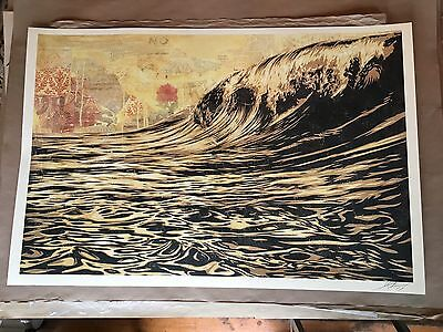 Shepard Fairey OBEY Dark Wave Offset Poster Print Signed & Dated