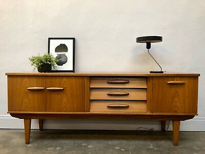 Vintage 60s JENTIQUE Teak Sideboard. Danish Retro G Plan. DELIVERY AVAILABLE