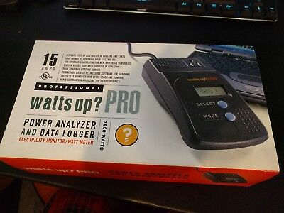 New Watts Up ? Pro Power Analyzer & Data Logger units with Cable Software more
