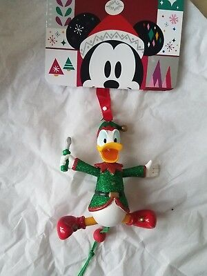 Disney ELF DONALD DUCK with SCREWDRIVER Sketchbook Ornament. 2018 New.
