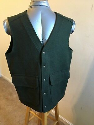 Vintage LL Bean Wool Vest Green Men's Large Made In USA