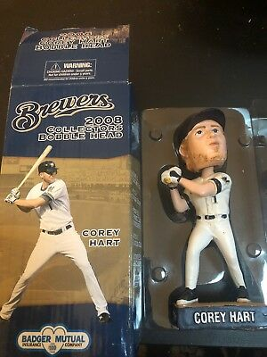 2008 COREY HART MILWAUKEE BREWERS/Seattle Mariners SGA BOBBLEHEAD~NIB!