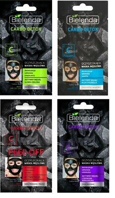 Bielenda Carbo Detox Carbon Face Masks Oily Dry Mature and Combination Skin