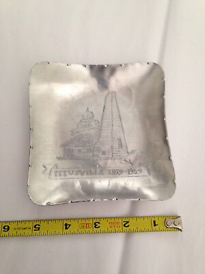 """5""""deponceau Aluminum Plate Titusville Pa Birth Of The Oil Industry Handmade 1959"""