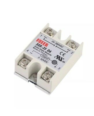 Solid State Relay Module SSR-60DA 60A, 3-32VDC to 24-380VAC, With Safey Cover