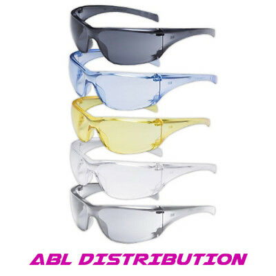 3M Virtua Safety Glasses - Box of 10 Clear, Grey, Amber, Clear Mirror