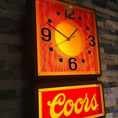 Coors Beer Motion Sign Advertising Store Display Man Cave Decor Light Up Neon