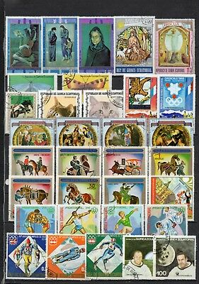 Guinea Equatorial very nice mixed pictorial collection,stamps as per scan(5476)
