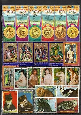 Guinea Equatorial very nice mixed pictorial collection,stamps as per scan(5475)