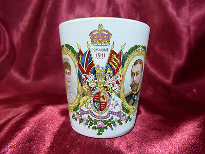 Antique Coronation CUP King George & Queen Mary 1911 Royal Memorabilia Newcastle