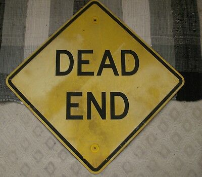"""66 - DEAD END Real Road Street Sign, Measures 24"""" X 24"""""""