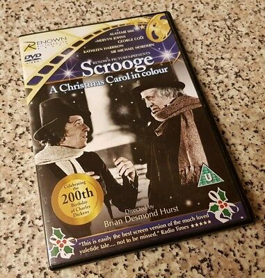 Scrooge A Christmas Carol 1951 in Colour DVD Renown Pictures Alastair Sim Rare
