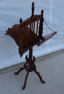 Antique Walnut Victorian Magazine Rack