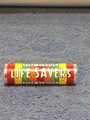 Vintage 1970s lifesavers candy roll full unused unopened prop Retro colors Rare