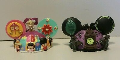 Disney It's A Small World Haunted Mansion Ear Ornament Set Of 2