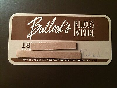 Bullock's Wilshire - Los Angeles, Ca. Vintage Collectors Credit Card