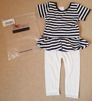 New! Tags & Bag! Pop Real Age 2-3 Years Baby Toddler Little Girl Top & Leggings
