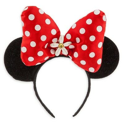 BNWT Authentic Disney Store Minnie Mouse Ears Headband Red Polka Dot Bow NEW