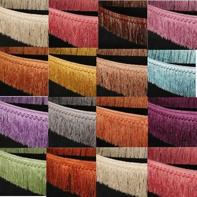 "13Yard Tassel Fringe Fringing Trim Luxury 4"" 10cm Curtain Drop 17 colors Crafts"