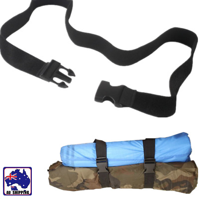 2pcs 1.5m Sleeping Bag Straps Quick Release Buckle Luggage Pack Tie TSTR98299x2
