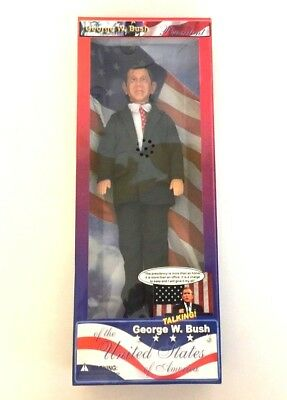 Sealed George W. Bush Talking President Action Figure Collectors Doll 17 Quotes