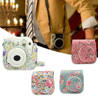 Floral PU Leather Shoulder Camera Case Bag for CAIUL Fujifilm Instax Mini 8/8+/9