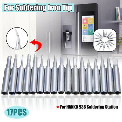 17Pcs 900M-T Lead-Free Soldering Iron Tip For HAKKO 936 Soldering Station US