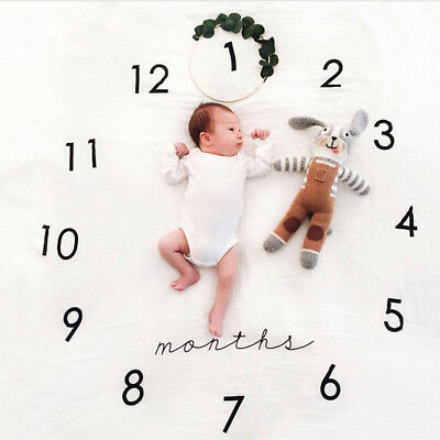 Infant Baby Cotton Printed Photo Photography Props Wraps Blanket Rug