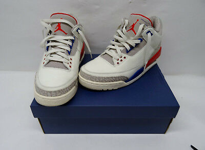 f70c0ffe5cc04f Nike Air Jordan Retro III 3 International Flight Sail Red Blue 136064-140  Sz 9.5