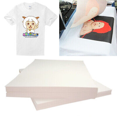 20 Pack T-shirt Light Fabric A4 Heat Transfer Paper For Printer US