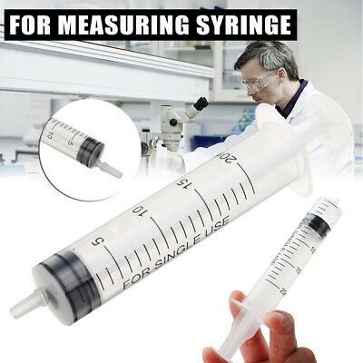 10-100ml Plastic Syringe + Cover For Measuring Nutrient Hydroponics Kitchen Glue