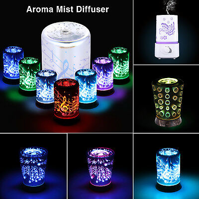 Aroma Essential Oil Diffuser Ultrasonic Aromatherapy Humidifier Colorful 8 Types
