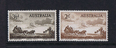 Australian Pre-Decimal Stamps 1955 Cobb And Co (2) ***SPECIAL PRICE*** MNH