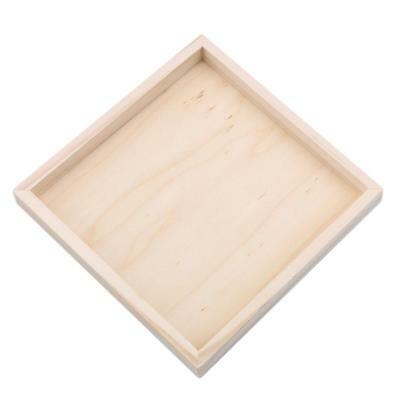 Durable Wooden Jigsaw Puzzle Storage Tray  Educational Toy FW