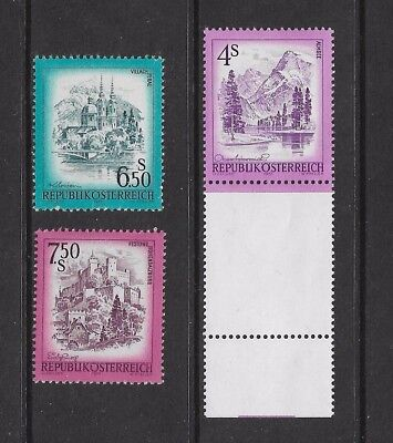 AUSTRIA 1973 Views, 3 values, 4s 6.50s 7.50s, mint, MNH MUH