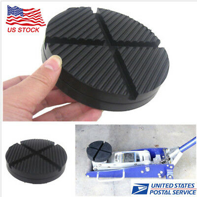 Car Rubber Cross Slotted Frame Floor Jack Disk Pad Adapter Pinch Weld Side