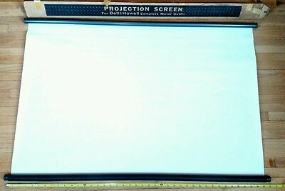 Bell & Howell Projection Screen for Complete Movie Outfit with Original Box