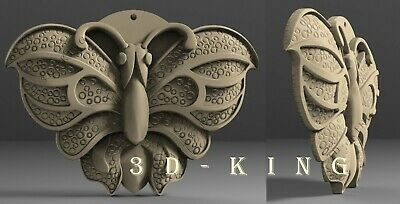 3D STL Model # BUTTERFLY DECOR # for CNC 3D Printer Engraver Carving Aspire