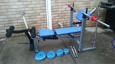 Weight Bench Home Gym Fitness Exercise Leg Curl Press Equipment