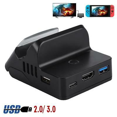 Portable TV HDMI Conventor Charging Dock for Nintendo Switch Charger Stands USB