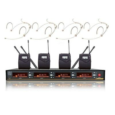 Headset Microphone Professional Wireless 4 Channels uhf Wireless microphones Mic